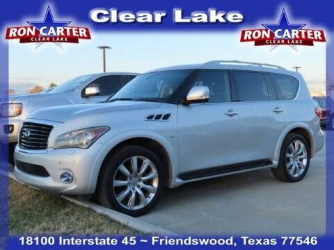 2014 Infiniti QX80 for sale at Ron Carter  Clear Lake Used Cars in Houston TX