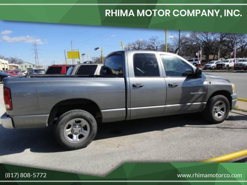 2006 Dodge Ram Pickup 1500 for sale at Rhima Motor Company, Inc. in Haltom City TX