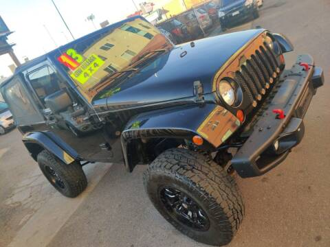 2013 Jeep Wrangler for sale at Sanaa Auto Sales LLC in Denver CO