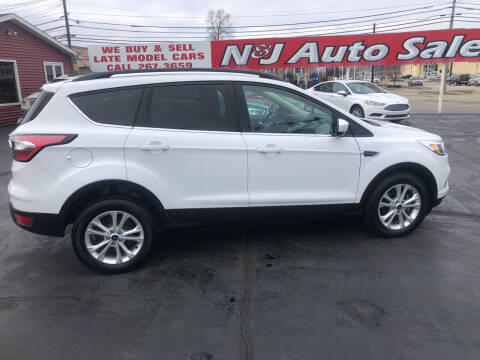2018 Ford Escape for sale at N & J Auto Sales in Warsaw IN