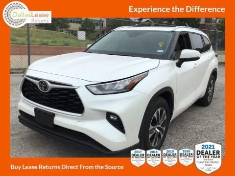 2020 Toyota Highlander for sale at Dallas Auto Finance in Dallas TX