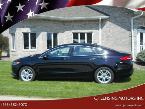 2018 Ford Fusion for sale at C.J. Lensing Motors Inc in Decorah IA