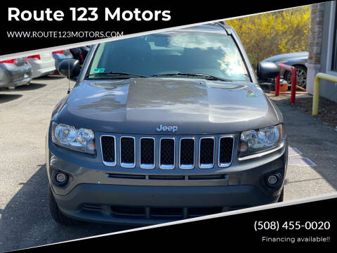 2014 Jeep Compass for sale at Route 123 Motors in Norton MA