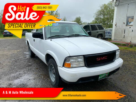 2000 GMC Sonoma for sale at A & M Auto Wholesale in Tillamook OR