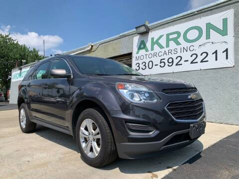 2016 Chevrolet Equinox for sale at Akron Motorcars Inc. in Akron OH