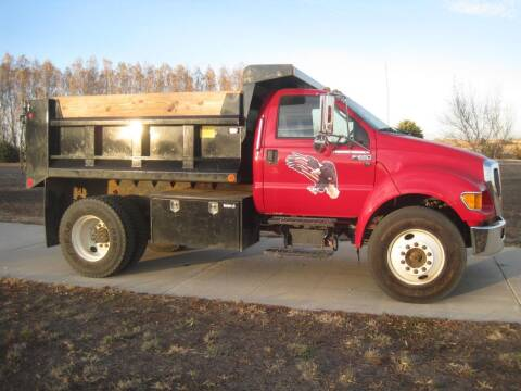 2015 Ford F650 dump truck for sale at IVERSON'S CAR SALES in Canton SD