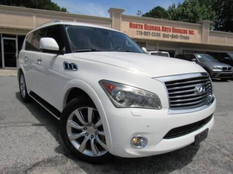 2012 Infiniti QX56 for sale at North Georgia Auto Brokers in Snellville GA