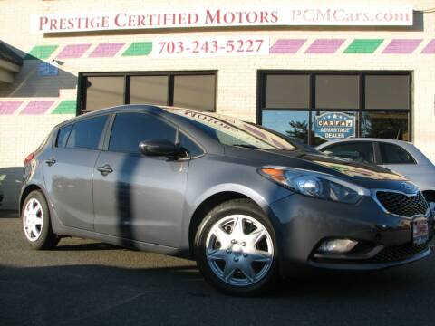 2016 Kia Forte5 for sale at Prestige Certified Motors in Falls Church VA