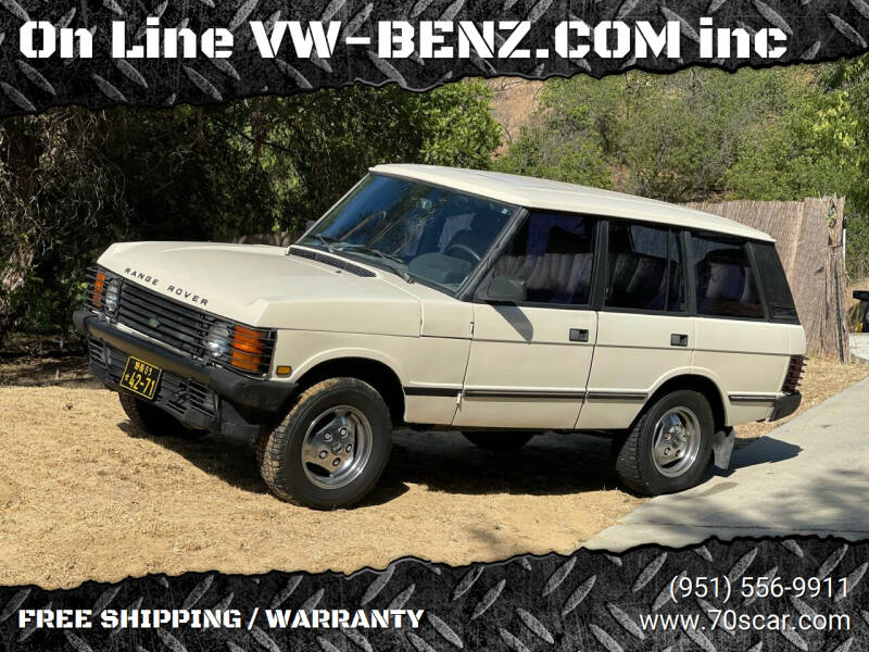1989 Land Rover Range Rover for sale at OnLine VW-BENZ.COM Auto Group in Riverside CA