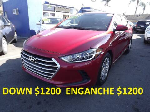 2017 Hyundai Elantra for sale at PACIFICO AUTO SALES in Santa Ana CA