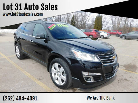 2016 Chevrolet Traverse for sale at Lot 31 Auto Sales in Kenosha WI