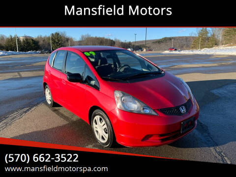 2009 Honda Fit for sale at Mansfield Motors in Mansfield PA