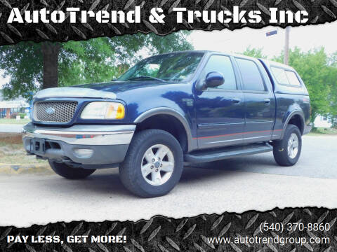 2003 Ford F-150 for sale at AutoTrend & Trucks Inc in Fredericksburg VA