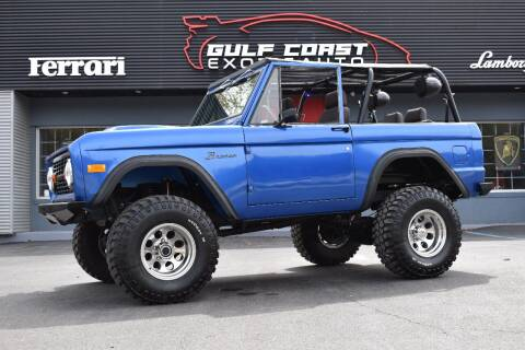 1975 Ford Bronco for sale at Gulf Coast Exotic Auto in Biloxi MS