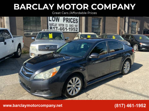 2010 Subaru Legacy for sale at BARCLAY MOTOR COMPANY in Arlington TX