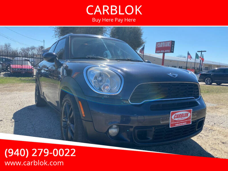 2012 MINI Cooper Countryman for sale at CARBLOK in Lewisville TX