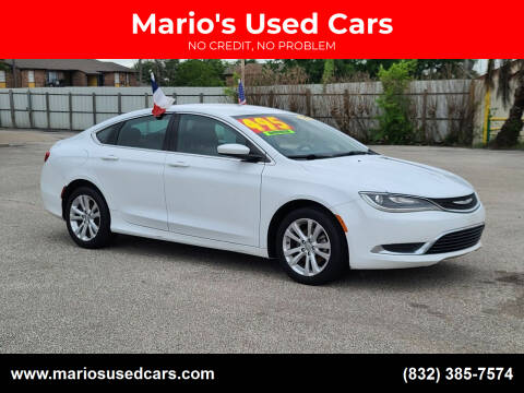 2015 Chrysler 200 for sale at Mario's Used Cars - Pasadena Location in Pasadena TX