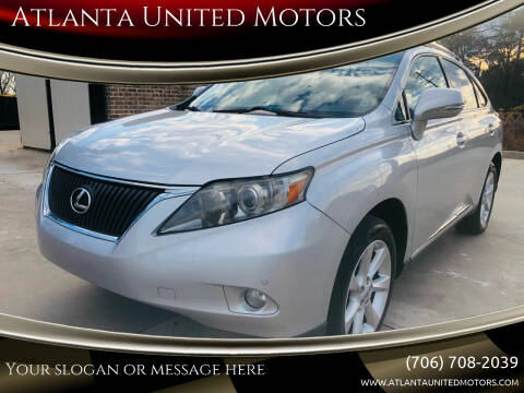 2010 Lexus RX 350 for sale at Atlanta United Motors in Jefferson GA