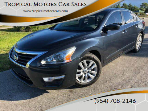 2013 Nissan Altima for sale at Tropical Motors Car Sales in Deerfield Beach FL