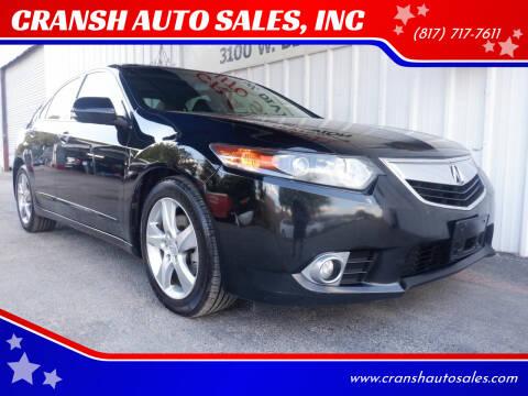 2012 Acura TSX for sale at CRANSH AUTO SALES, INC in Arlington TX