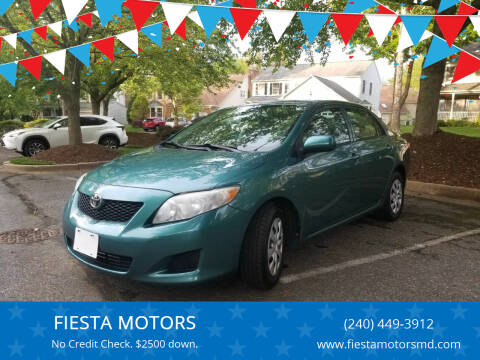2009 Toyota Corolla for sale at FIESTA MOTORS in Hagerstown MD