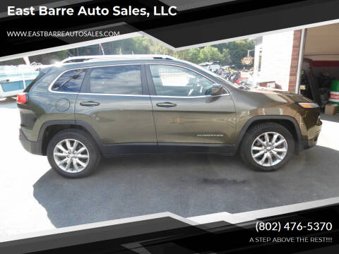 2014 Jeep Cherokee for sale at East Barre Auto Sales, LLC in East Barre VT