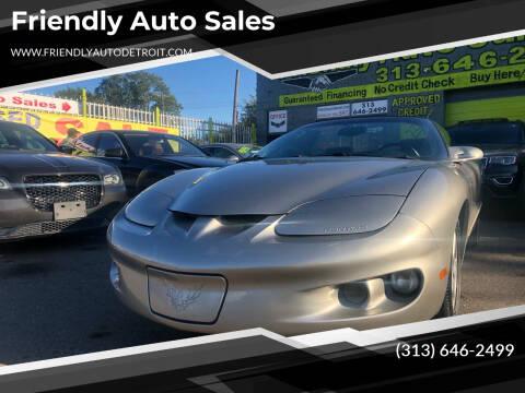1999 Pontiac Firebird for sale at Friendly Auto Sales in Detroit MI