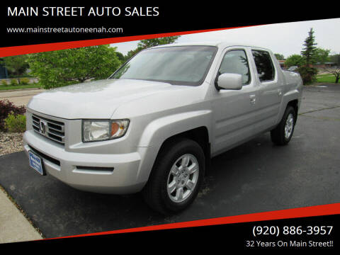 2006 Honda Ridgeline for sale at MAIN STREET AUTO SALES in Neenah WI