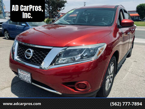 2016 Nissan Pathfinder for sale at AD CarPros, Inc. in Whittier CA
