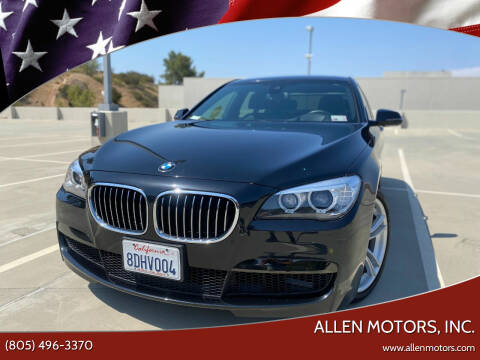 2015 BMW 7 Series for sale at Allen Motors, Inc. in Thousand Oaks CA