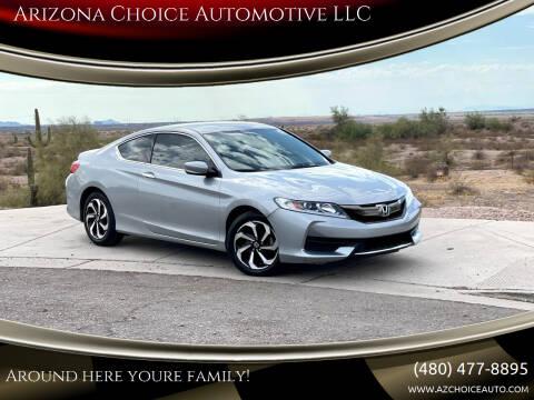 2017 Honda Accord for sale at Arizona Choice Automotive LLC in Mesa AZ