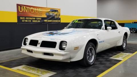 1976 Pontiac Firebird for sale at UNIQUE SPECIALTY & CLASSICS in Mankato MN