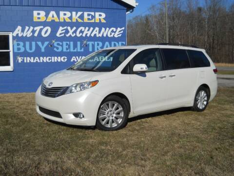 2014 Toyota Sienna for sale at BARKER AUTO EXCHANGE in Spencer IN