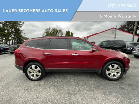 2011 Chevrolet Traverse for sale at LAUER BROTHERS AUTO SALES in Dover PA