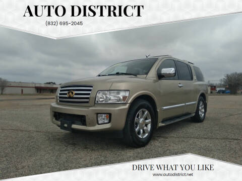 2005 Infiniti QX56 for sale at Auto District in Baytown TX
