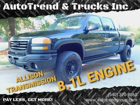 2003 GMC Sierra 2500HD for sale at AutoTrend & Trucks Inc in Fredericksburg VA