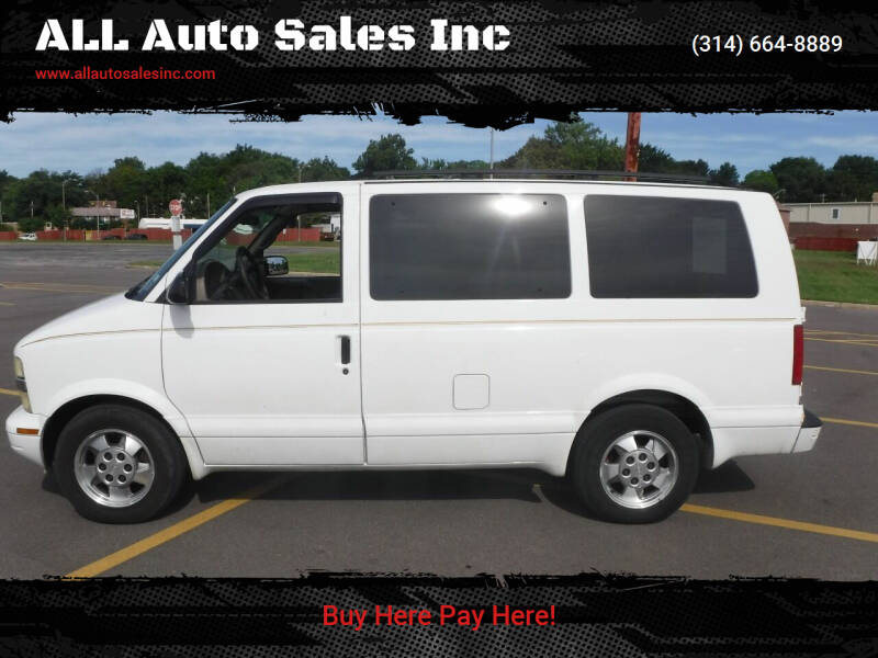 2003 Chevrolet Astro for sale at ALL Auto Sales Inc in Saint Louis MO