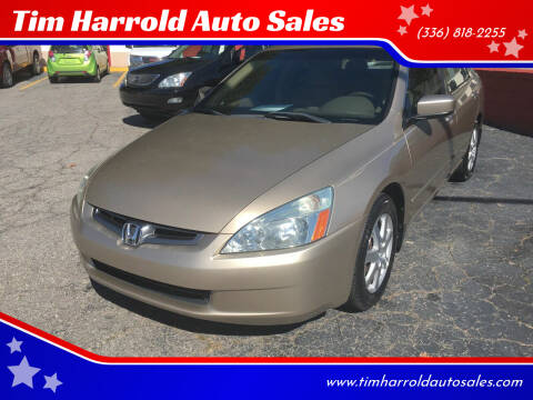 2005 Honda Accord for sale at Tim Harrold Auto Sales in Wilkesboro NC
