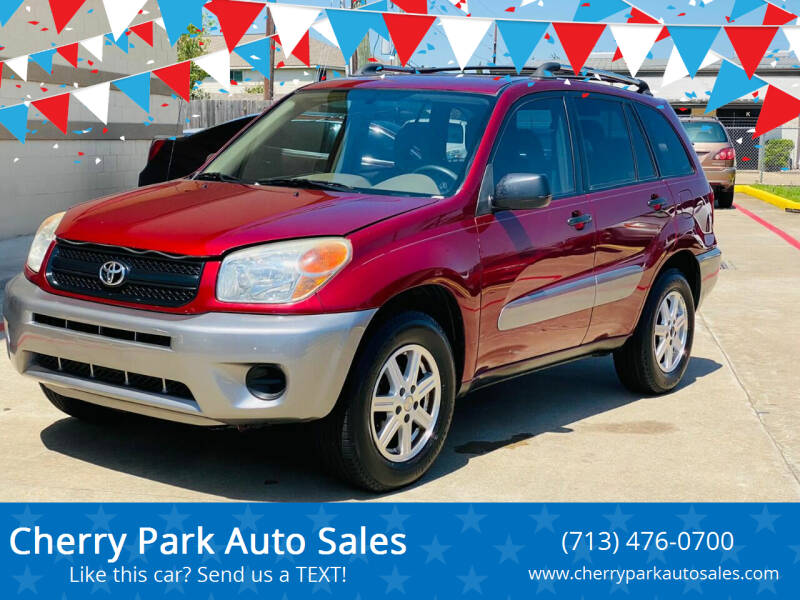 2005 Toyota RAV4 for sale at Cherry Park Auto Sales in Houston TX