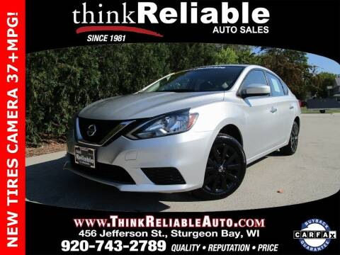 2017 Nissan Sentra for sale at RELIABLE AUTOMOBILE SALES, INC in Sturgeon Bay WI