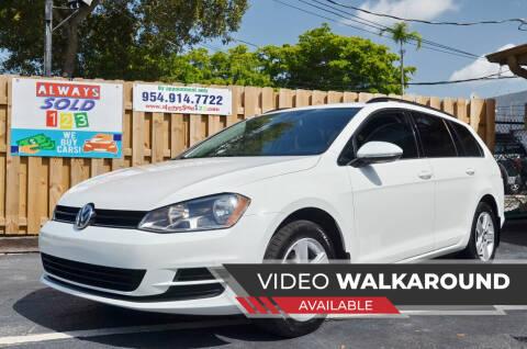 2015 Volkswagen Golf SportWagen for sale at ALWAYSSOLD123 INC in Fort Lauderdale FL