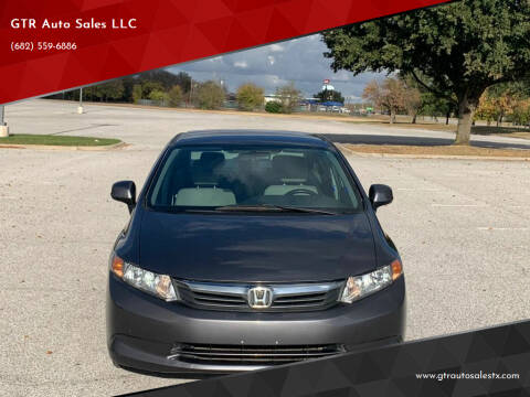 2012 Honda Civic for sale at GTR Auto Sales LLC in Haltom City TX