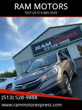 2015 Honda CR-V for sale at RAM MOTORS in Cincinnati OH