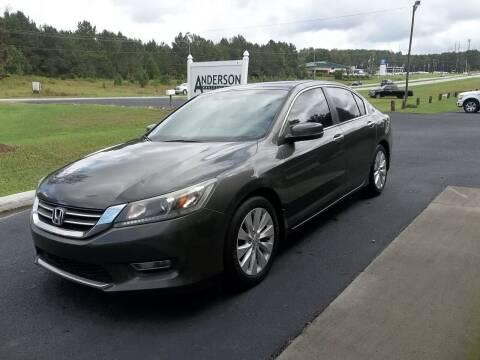2013 Honda Accord for sale at Anderson Wholesale Auto in Warrenville SC