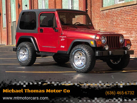 1999 Jeep Wrangler for sale at Michael Thomas Motor Co in Saint Charles MO
