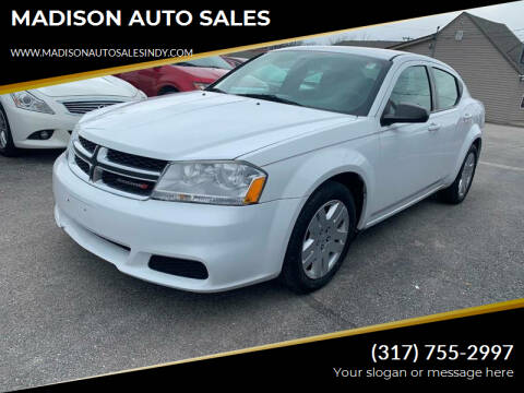 2013 Dodge Avenger for sale at MADISON AUTO SALES in Indianapolis IN