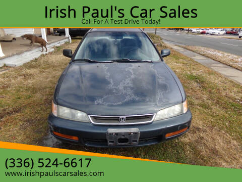 1997 Honda Accord for sale at Irish Paul's Car Sales in Burlington NC