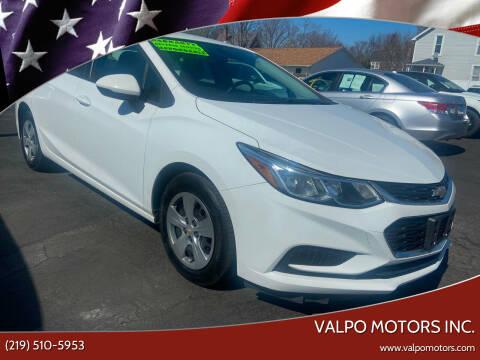2018 Chevrolet Cruze for sale at Valpo Motors Inc. in Valparaiso IN