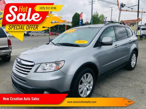 2011 Subaru Tribeca for sale at New Creation Auto Sales in Everett WA