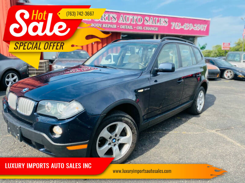 2008 BMW X3 for sale at LUXURY IMPORTS AUTO SALES INC in North Branch MN